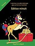 licornes livre de coloriage pour enfants et adultes edition minuit illustrations magnifiques et uniques sur un fond noir le petit livre de coloriage licornes coloriage licornes no?l