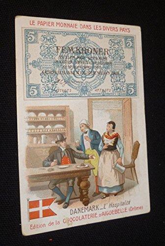 9 chromos publicitaires Chocolaterie d'Aiguebelle : le papier monnaie