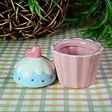 tobbrt Figuren Keramik Aufbewahrungsbehälter Schmuckschatullen Kreative Handwerk Geschenke Kuchen Tassen Formen, Pink