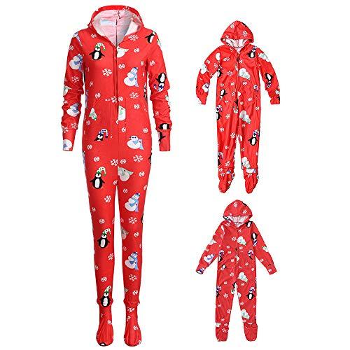 ssende Familie Pyjamas Schlafanzug für Weihnachten Jumpsuit Homewear Outfit für Kinder, Jungen, Mädchen, Erwachsene Eltern (9-10 Jahre / 160-165CM, Kind) ()