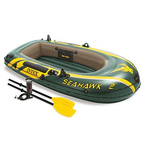 Intex Boot Seahawk 2 Set, grün, 236 x 114 x 41 cm / 4-teilig
