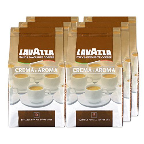 Lavazza Café en Grains Crema E Aroma, Lot de 6, 6 x 1000g
