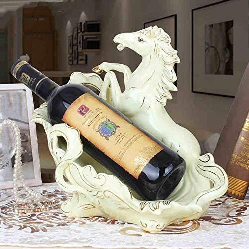 DEED Weinregal-Europäische Kreative Weinregale Keramik Pferd Form Moderne Kreative Weinschrank...