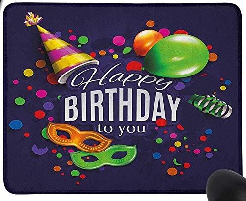 GBZlove Bunte Luftballons Ringelbänder Karnevalsmaske Party Hut Konfetti Desgin Druck Gaming Mauspad rutschfest Gummi Mauspad für Computer Laptop Mauspad