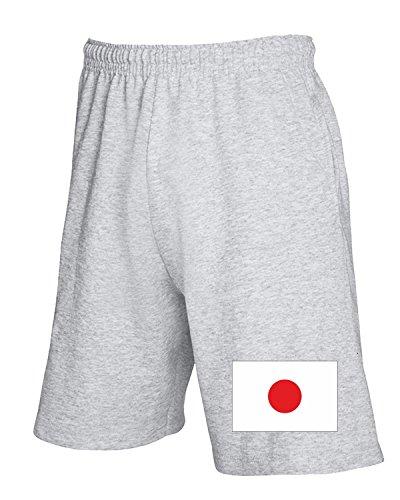 T-Shirtshock - Pantalone Tuta Corto TM0202 Japan flag, Taglia M