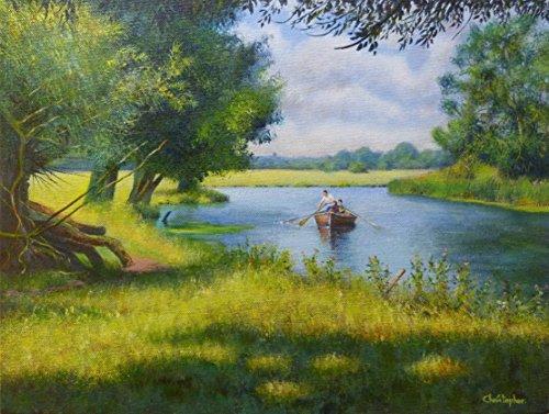escena-de-rio-stour-paisaje-original-de-la-pintura-acrilico-40-cm-x-30-cm-bote-de-remos-paseo-del-va