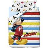 Disney Mickey Colors - Funda nórdica de 3 piezas para cama de 90 cm
