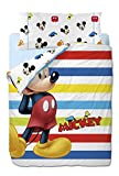 Disney Mickey Colors - Funda nórdica de 3 piezas para cama de 90 cm