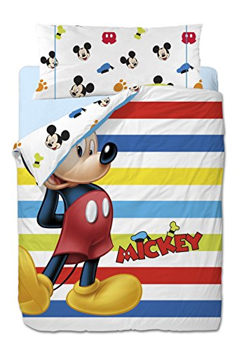 Disney Mickey Colors - Funda nórdica de 3 piezas para cama de...
