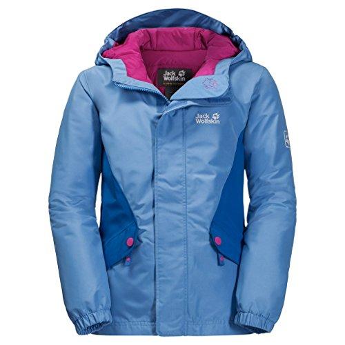Jack Wolfskin Kinder G Kajak Falls Jkt Winterjackewind-und Wasserabweisend Atmungsaktiv Wetterschutzjacke, Zircon Blue, 140