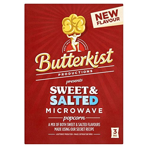 Butterkist Microwave Popcorn - Sweet & Salé (3 par paquet - 270g) - Paquet de 6