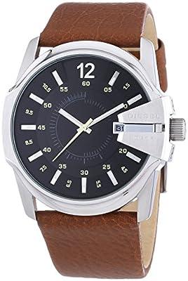 Diesel Master Chief - Reloj de cuarzo para hombre, con correa de cuero, color marrón