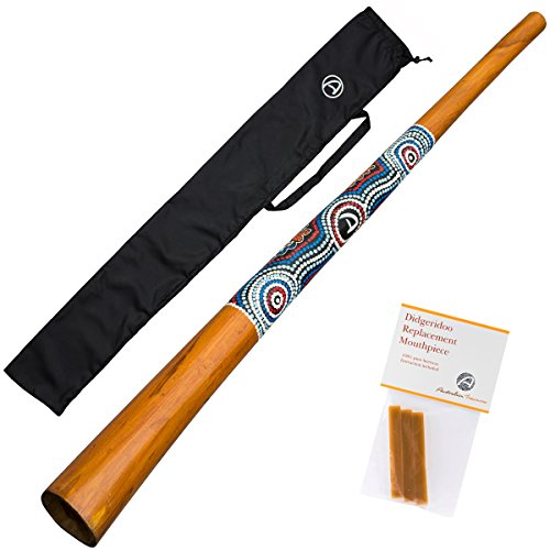 Australian Treasures - Didgeridoo \'\'natural paint\'\' + Bienenwachs + DidgeridooTasche