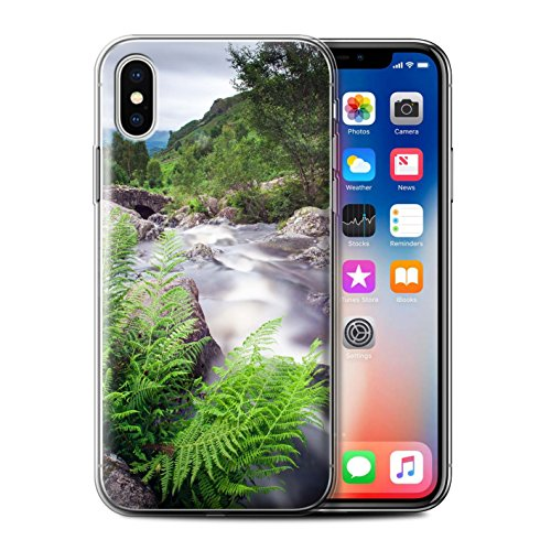 Stuff4 Gel TPU Hülle / Case für Apple iPhone X/10 / Felsigen Stream Muster / Wasserfälle Kollektion Strom