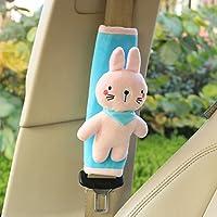 unlockgift Cute Animal Soft Harness Baby Car Seat Belt Pads Covers Shoulder Pads Universal Fit Car Seat Belt Pads 2PCS (Pink Bunny)