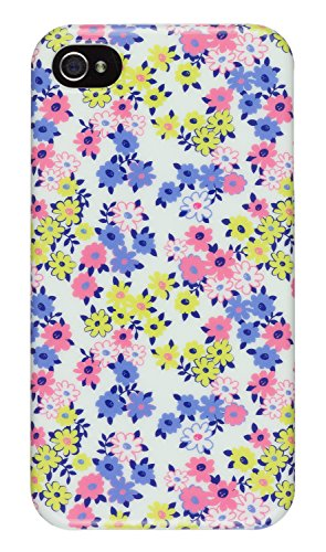 Trendz Hard Shell Schutzhülle Clip-On Case Cover für iPhone 4/4S - London Silhouettes Ditsy Floral