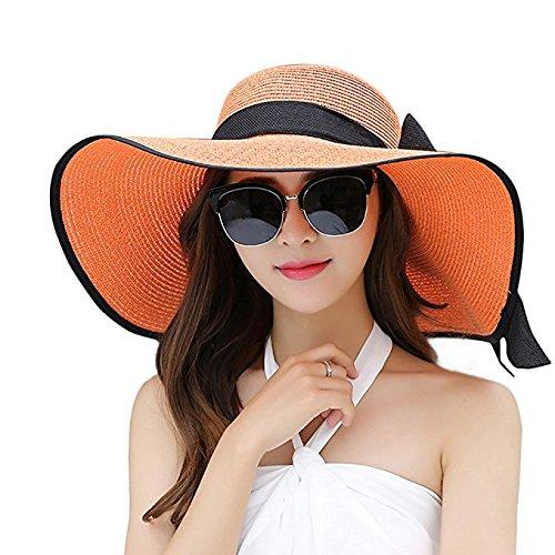 whitlocks-women-floppy-hat-big-bowknot-straw-hat-wide-orange-brim-beach-hat-sun-hat