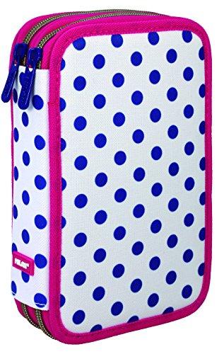 Milan Dots 3 081264DT3 Estuches, 20 cm, Azul/Blanco