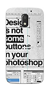 Kaira High Quality Printed Designer Back Case Cover For Motorola Moto E3 Power(133)