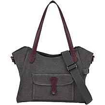 Womens Handbags,COOFIT Shoulder Handbags Canvas Tote Handbags Crossbody Bags for Women