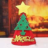 Noël Fournitures Enfants Noël Chapeau de Fête Flanelle Applique Enfants Chapeau de Dessin Animé Maternelle Centre Commercial Décorations de Noël,F