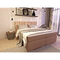 Ka Line Boxspringbett 140x200 Cm Beige H2 Mit Füßen Polsterbett Premium  Hotelbett Bett Amerikanische Doppelbett