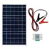 ECOWORTHY Kit de système de panneau solaire 10 W 12 V Module solaire avec...