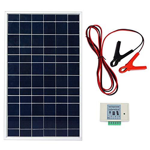 Sistema de panel solar de 10 W 12 V policristalino. Potencia relativa: 10 W. Voc: 20,6 V. Vop: 17,3 V. Corriente de cirxuita corta (Isc): 0,69 A. Corriente de funcionamiento (lop): 0,58 A. Dimensiones: 337 x 204 x 18 mm. Garantía de potencia: 90% den...