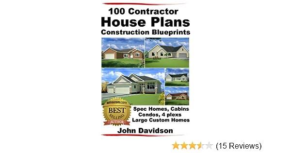 Contractor House Plans Construction Blueprints Spec Homes Cabins Condos  Plexs And Custom Homes Ebook John Davidson Specialized Design Systems