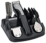 FARI Beard Trimmer Hair Clipper All in 1 Man's Grooming Kit Facial Nose and Head Haircut Trimming, Rechargeable Mustache Trimmers Shaver Suit Hair Cutter with Fast Charge (Black)