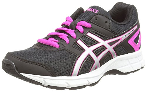 Asics Gel-Galaxy 8 GS - Zapatillas de Running Para Niños, Color Negro (Black/Silver/Pink Glow 9093), Talla 35.5