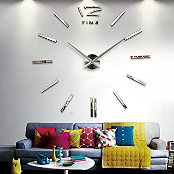 Amazon.de: JUSTFOX - Designer Wanduhr für Wohnzimmer Edelstahl ...