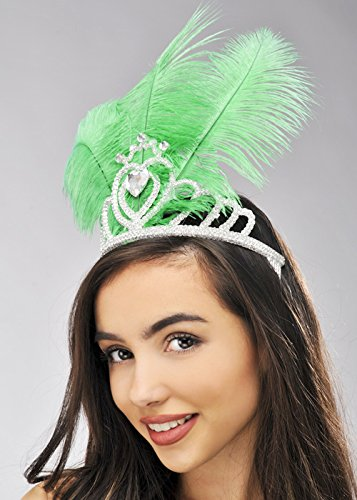 Helle grüne Feder Showgirl Tiara -