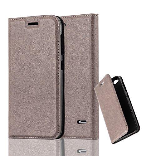 Cadorabo Hülle für ZTE Blade S6 - Hülle in Kaffee BRAUN - Handyhülle mit Magnetverschluss, Standfunktion & Kartenfach - Case Cover Schutzhülle Etui Tasche Book Klapp Style