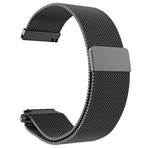 Comomingo Correa de Reloj de Pulsera de Malla de Acero Inoxidable Reemplazo del Reloj de la Correa magnética para Xiaomi Amazfit Bip Reloj Juvenil