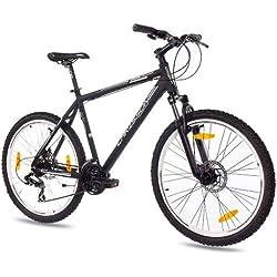CHRISSON - TERIER Bicicleta de montaña, tamaño 26'' (66,0 cm), color negro matt, 21 velocidades