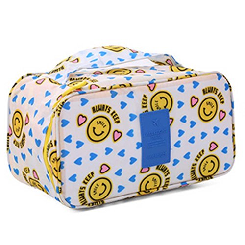 Durable visage souriant grande capacité Portable Voyage Cosmetic Bag