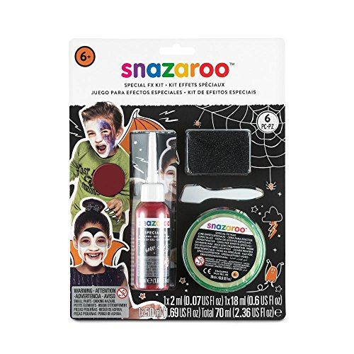Snazaroo Schmink Set für Grusel Make-up, Kunstblut, Farbe & Effektwachs für (Fx Kit Make Up)