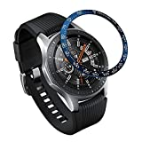 XIHAMA Bezel Ring Compatible for Samsung Galaxy Watch 46mm / Gear S3 Frontier & Classic, Stainless Steel Bezel Styling Circle Adhesive Protection Anti Scratch (GA46-B02)