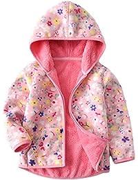 Vine Bebé Chaquetas polar Abrigos con Capucha Niños Niñas Chaquetas Deportivas Fleece Trajes Reversible Ropa de niños para 1-6 Años