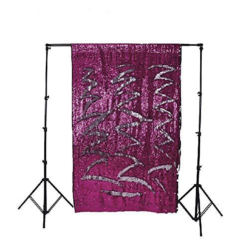 SparY Fotografie Hintergrund, Foto Hintergrund Vorhang Faltbar Kostüm Party Pailletten Schreibtisch Profi Fenster Hochzeit Automat Requisiten Geringes Gewicht - rosa, Free - Automat Kostüm