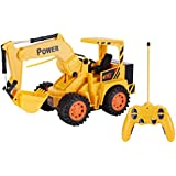 Emob 5 Channel Caterpillar Mounted Flash Remote Control Excavator Vehicle Toy With Flash Light