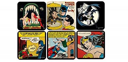 DC Comic - Superhelden Untersetzer 6er Set - Comic ()