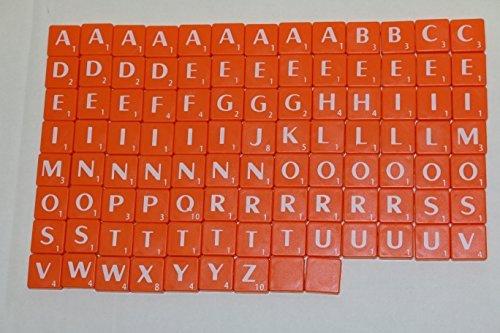 Nuovo scrabble plastica piastrelle lettere plastica arancio