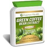 Café Vert Green Coffee Bean TRES FORTE 6000mg 120 Pilules - Perdez jusqu'à 4.5 Kilos en 4 Semaines! PLUS + Formule Régime GRATUITE ! Alimentation Minceur Perte de Poids Pilule Amaigrissante - Brûler les graisses RAPIDEMENT ! EXPÉDITION RAPIDE DE AMAZON FRANCE - Ce produit se trouve en FRANCE et Sera Livré en Quelques Jours NON Pas Des Semaines !