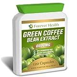 Grüner Kaffee STARKEN Diätpillen 6000mg 120 Kapseln - Verlieren Sie