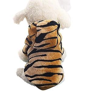 Ansenesna Pet Clothes Dog Cat Cute Tiger Transfiguration Coat Dress