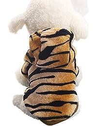 Ropa para Mascotas Gusspower Sudadera con Capucha Estampado de Tigre suéter Perrito Ropa de Invierno Abrigo Espesar Franela
