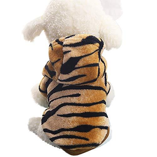 BBring Netter Tiger Kapuzenpulli HundeKleidung für Kleine Hunde Winter Warm Sweater Pullover Mantel Haustier Kostüm - Tiger Kostüm Für Den Hunde