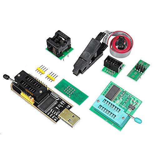 Florallive 4PCS Fernseher Memory Test Brennen Clip Board + USB Programmer CH341A + 1,8 V Adapter + SOIC8 Adapter Neu